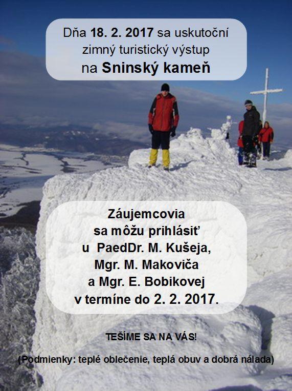 Zimný výstup na Sninský kameň 2017